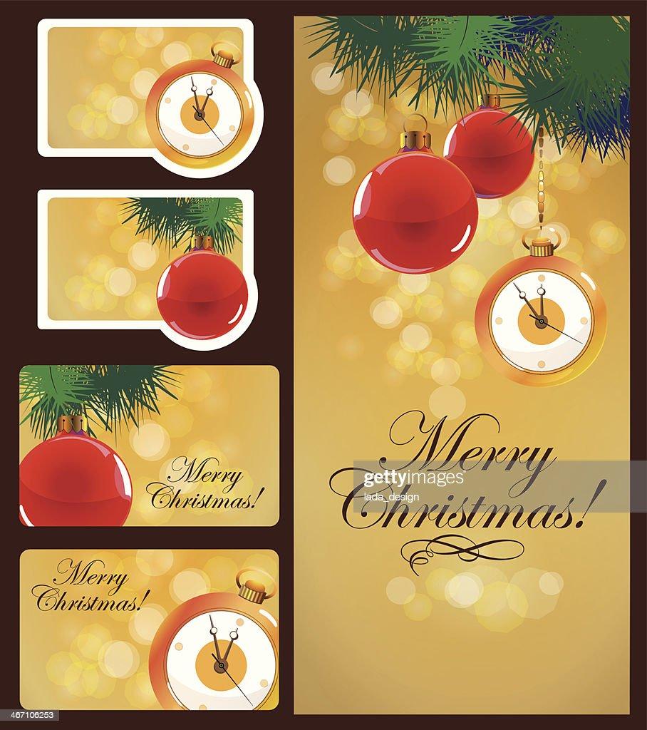 Christmas cards set