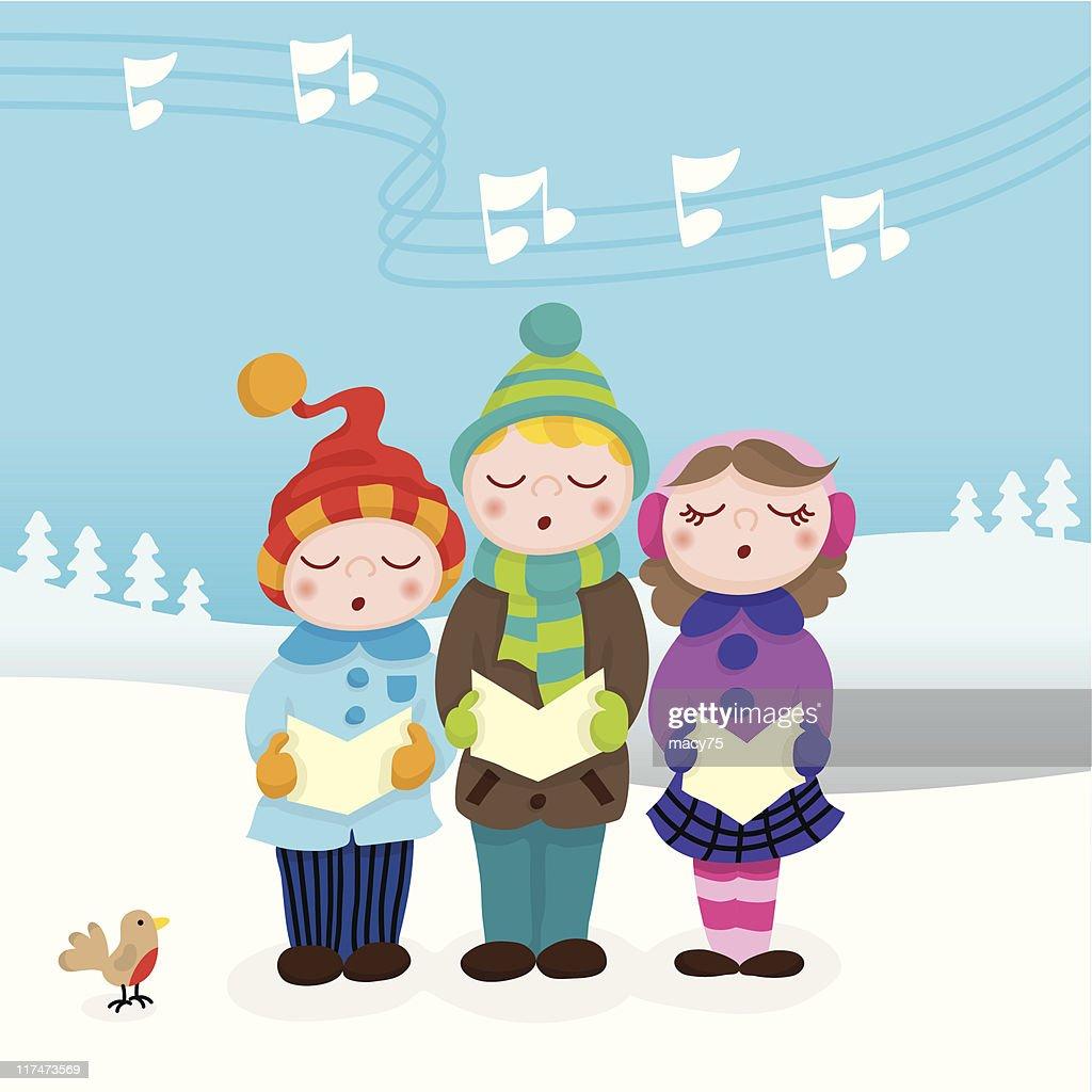 Christmas carolers cute kids