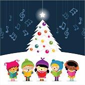 christmas carolers sing