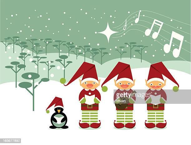 ilustraciones, imágenes clip art, dibujos animados e iconos de stock de navidad carols - chuwy