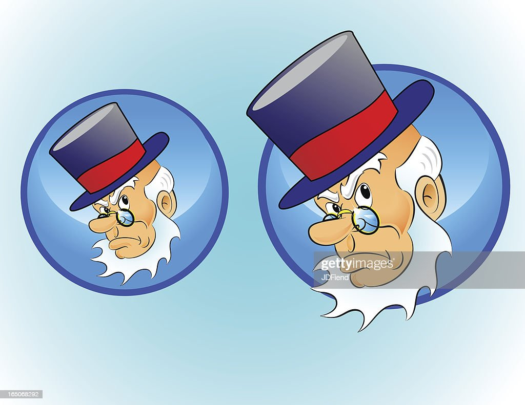 Christmas Character Icon: Scrooge : stock illustration