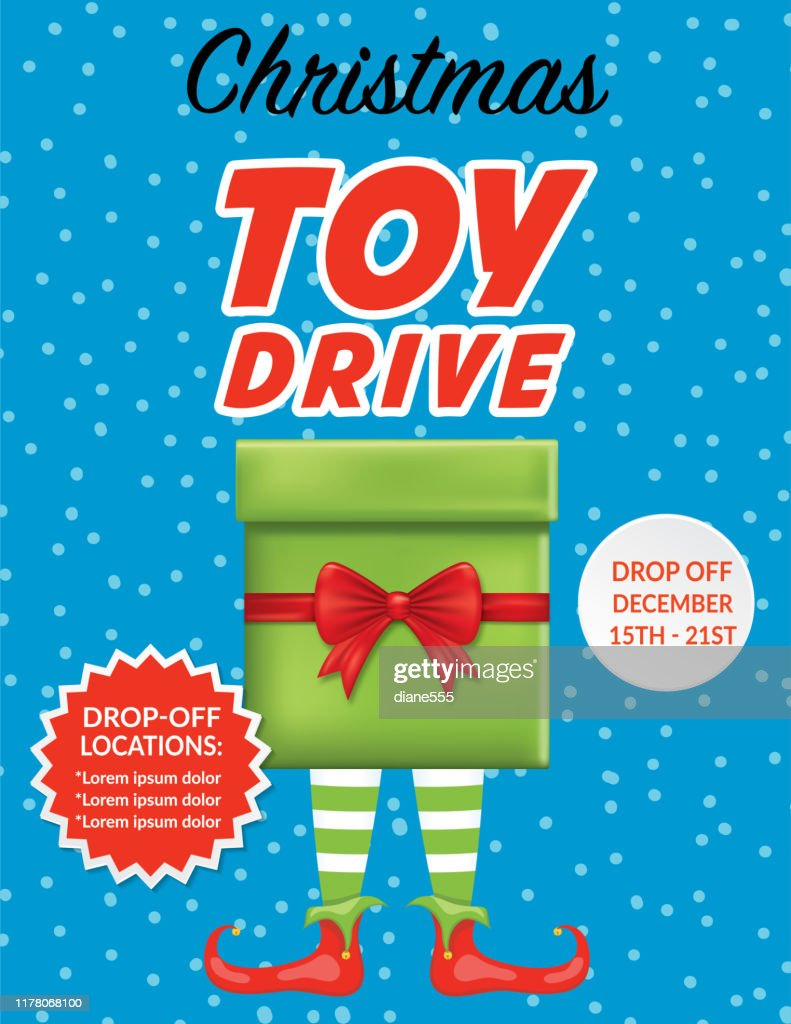Christmas Charity Toy Drive Poster Template High Res Vector Graphic Getty Images