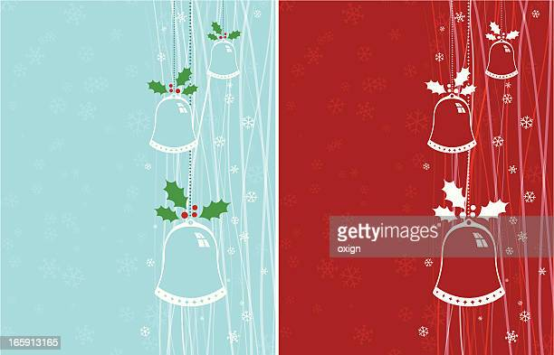 christmas chimes or bells - chinese lantern lily stock illustrations