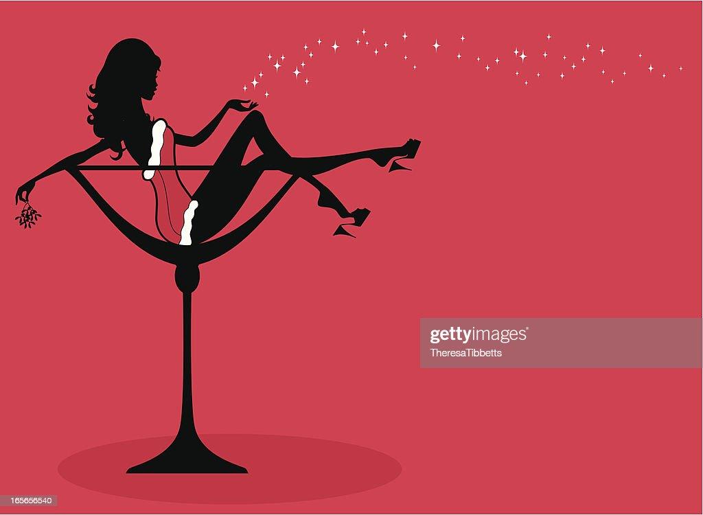 Christmas Cocktail Girl