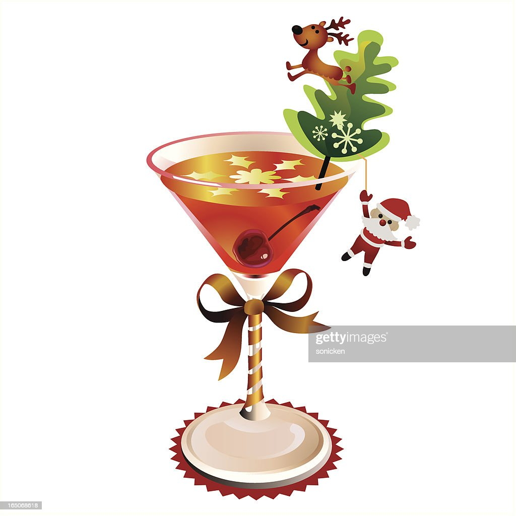 Christmas Cocktail Vector Art
