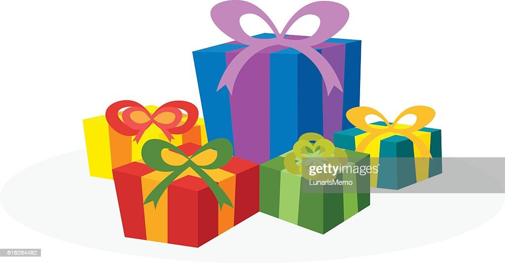 Christmas concept by have many gift box : Vector Art