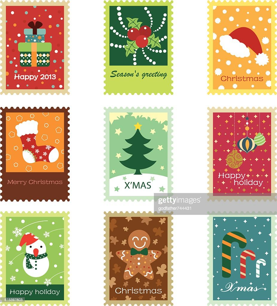 Christmas Concept Stamps