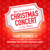 Christmas Concert ticket invitation design template