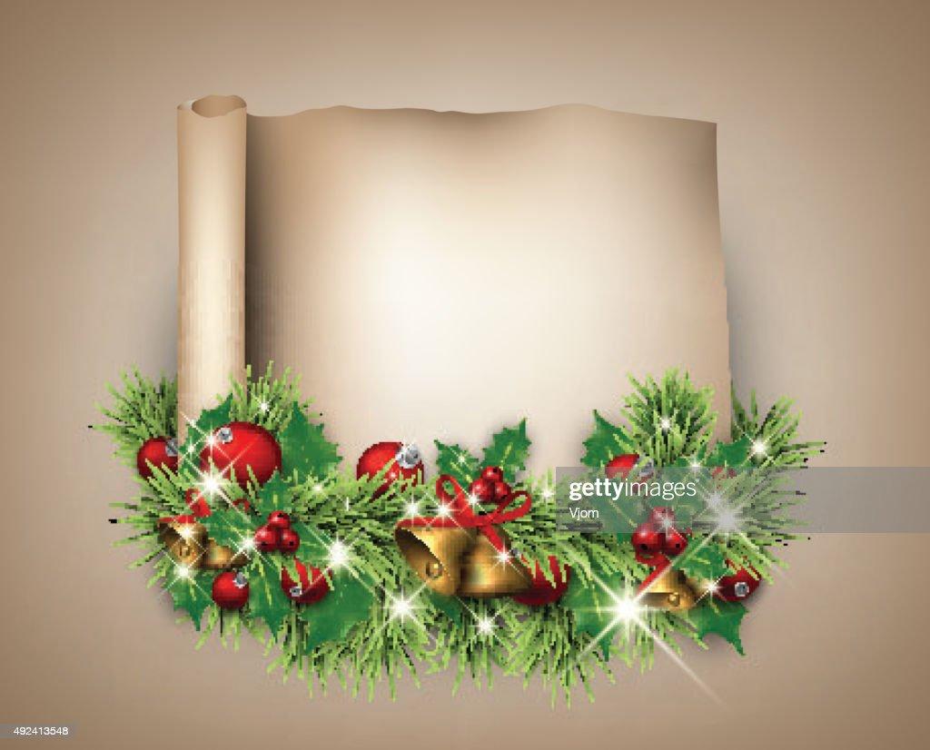 Christmas congratulatory background