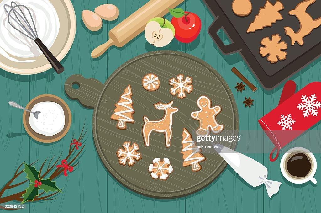 Christmas cookies : stock illustration
