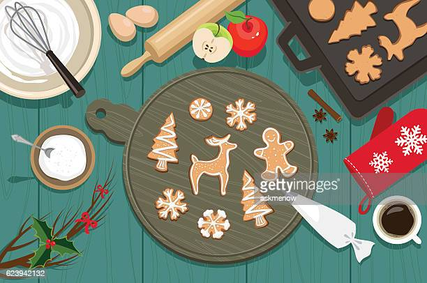 christmas cookies - cookie stock illustrations, clip art, cartoons, & icons