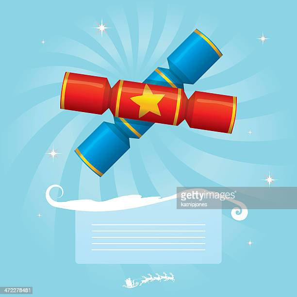 クリスマスクラッカーメッセージ - クリスマスクラッカー点のイラスト素材/クリップアート素材/マンガ素材/アイコン素材