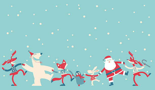 Christmas Dancing Wall Art