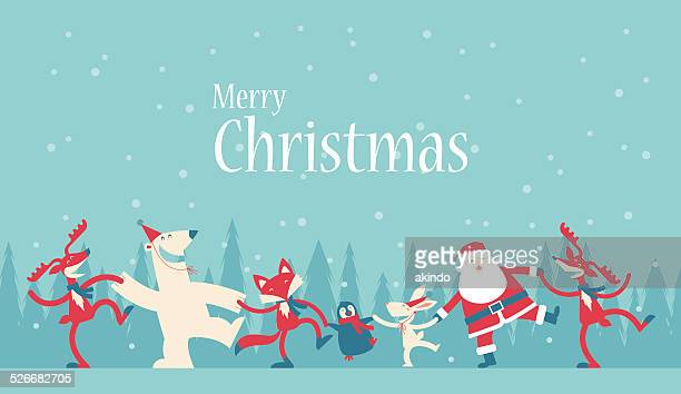 christmas dancing - dancing stock illustrations