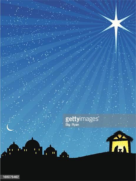 ilustraciones, imágenes clip art, dibujos animados e iconos de stock de día de navidad - nacimiento de navidad