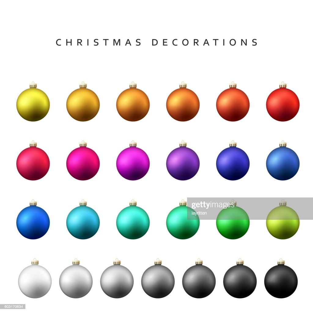 Christmas decoration balls range.