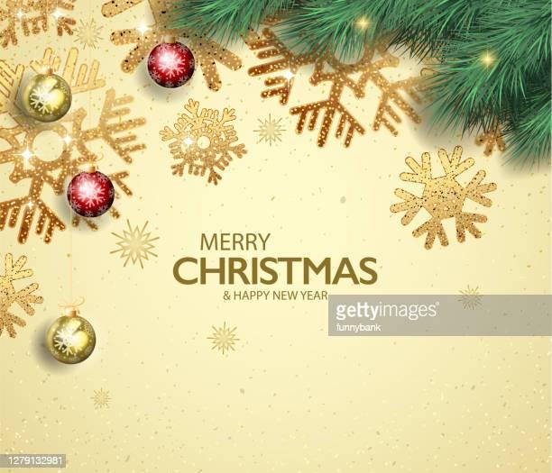 weihnachts-dekoration-karte - kieferngewächse stock-grafiken, -clipart, -cartoons und -symbole