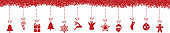 christmas decoration elements hanging snowflakes isolated background