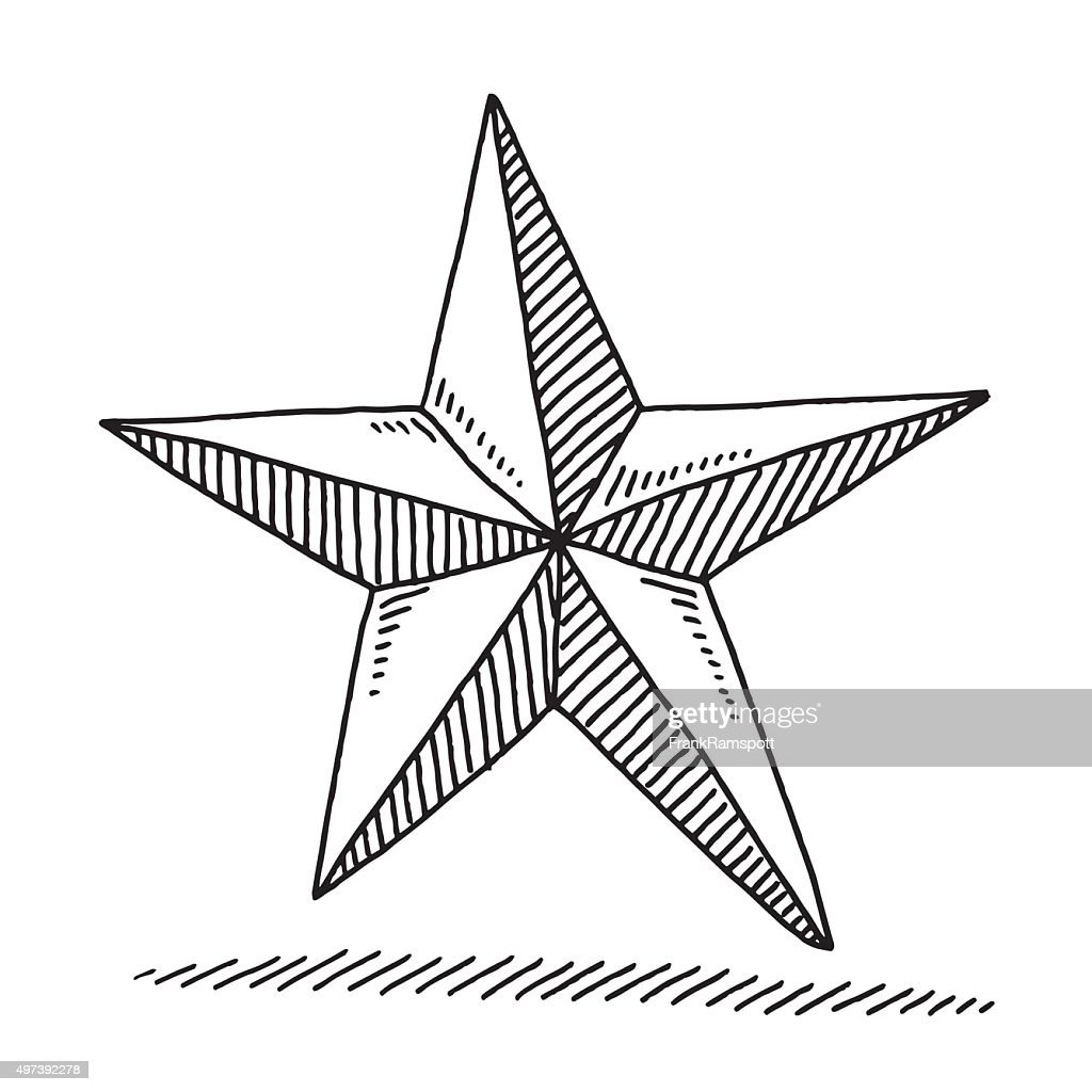 Christmas decoration star drawing vector art getty images