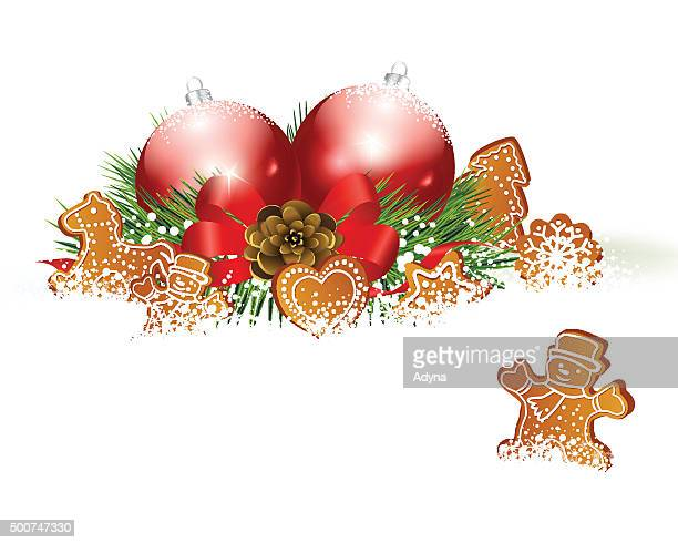 christmas decoration - dessert topping stock illustrations, clip art, cartoons, & icons