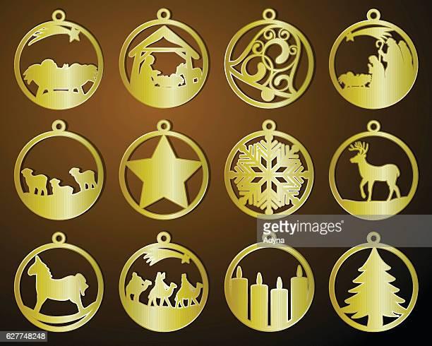 christmas decoration - star of bethlehem religious symbol stock illustrations, clip art, cartoons, & icons