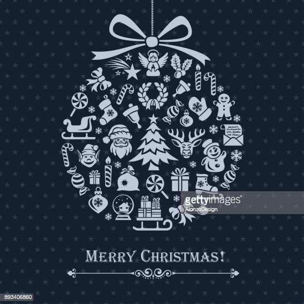 christmas decoration - gingerbread man stock illustrations