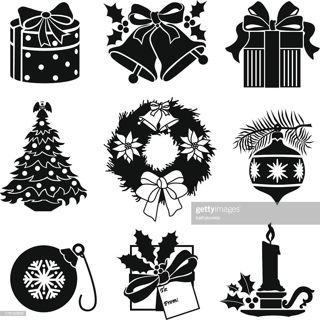 Christmas Decorations Vector Art