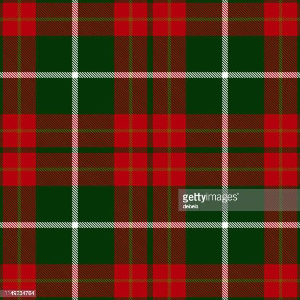 christmas decorative tartan plaid textile pattern - traditional clothing stock illustrations