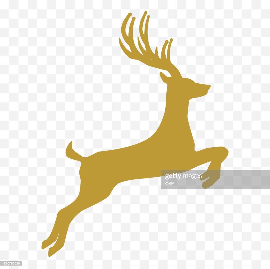 Weihnachten Hirsch Silhouette Vektorgrafik   Getty Images