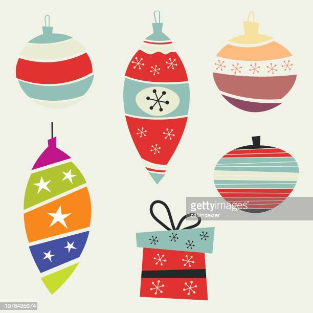 christmas design elements - christmas ornament stock illustrations