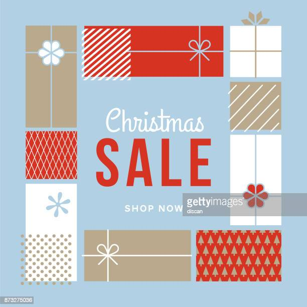 christmas design for advertising, banners, leaflets and flyers. - boxing day stock illustrations