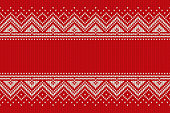 Christmas Design Knitted Background with a Place for Text. Wool Knit Texture Imitation