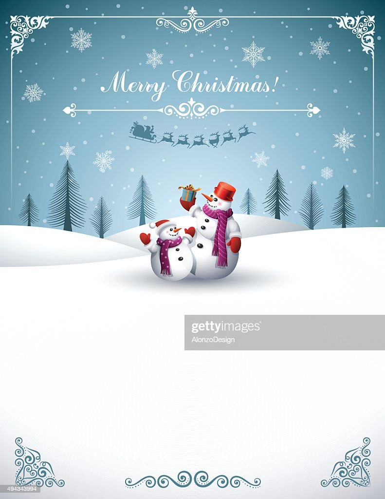 Christmas Design with Snowmen