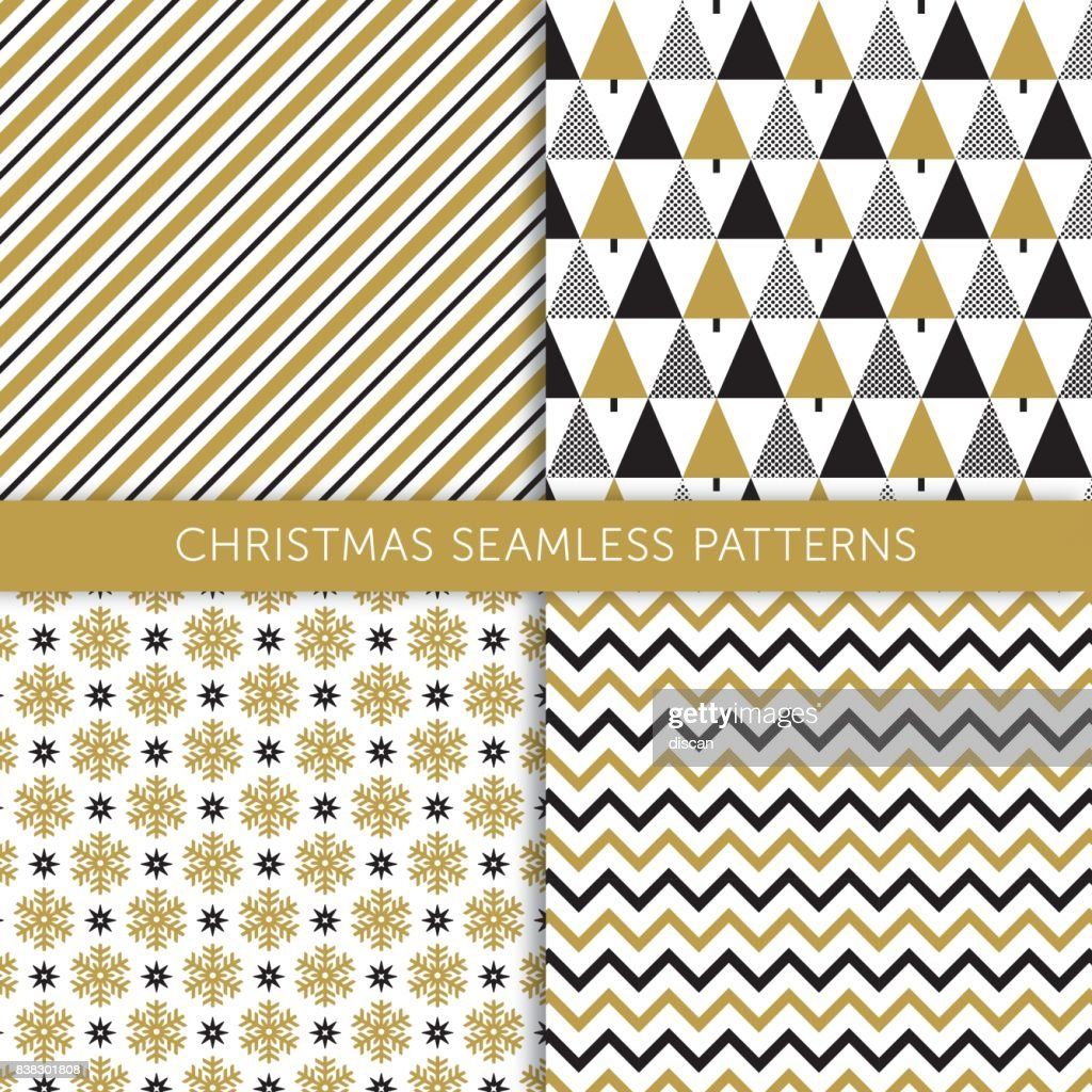 Christmas different seamless patterns