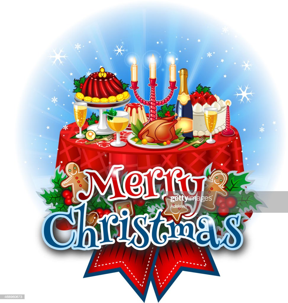 Christmas Dinner Table Vector Art | Getty Images