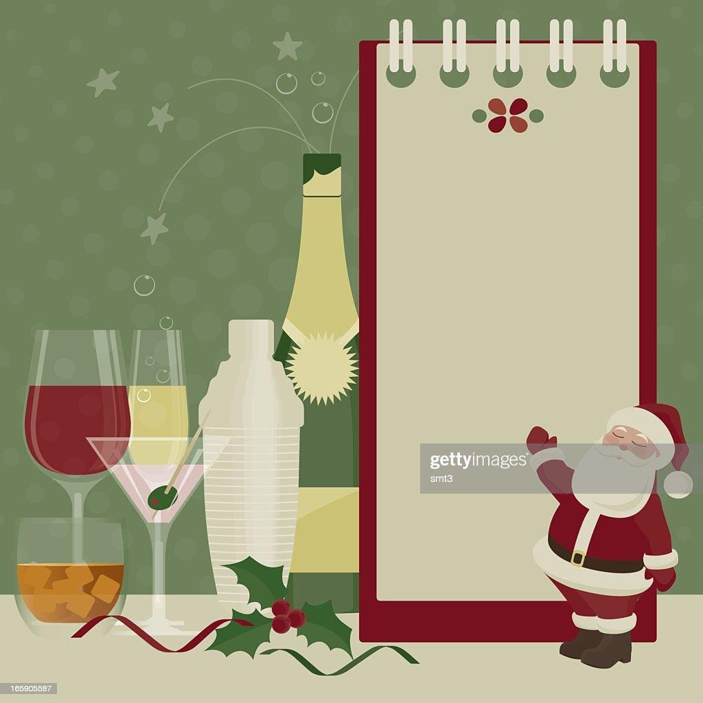 Bebidas de Natal : Ilustração
