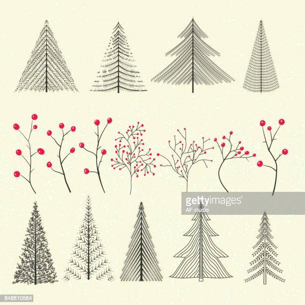 Christmas Elements - Trees & Twigs