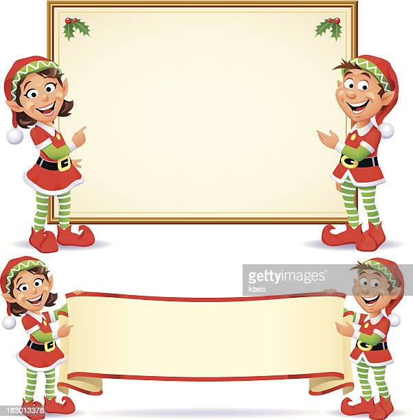Christmas Elves Banners