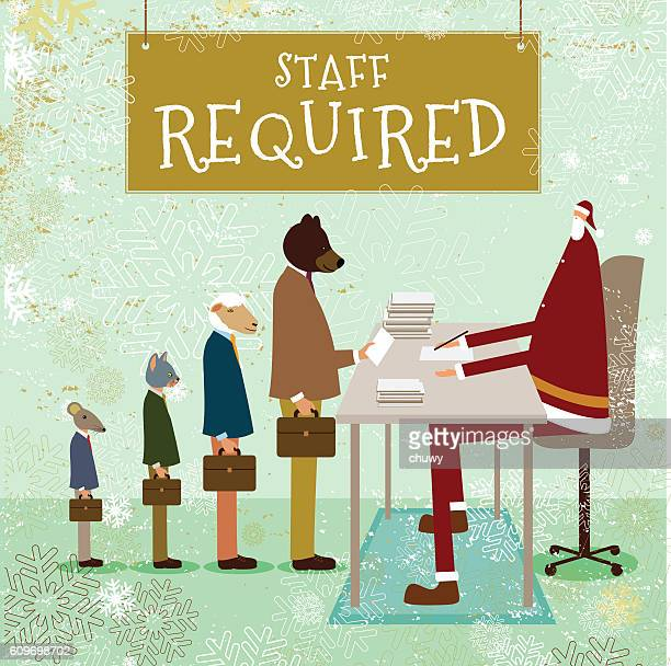Christmas employment job santa klaus staff advertisement humour