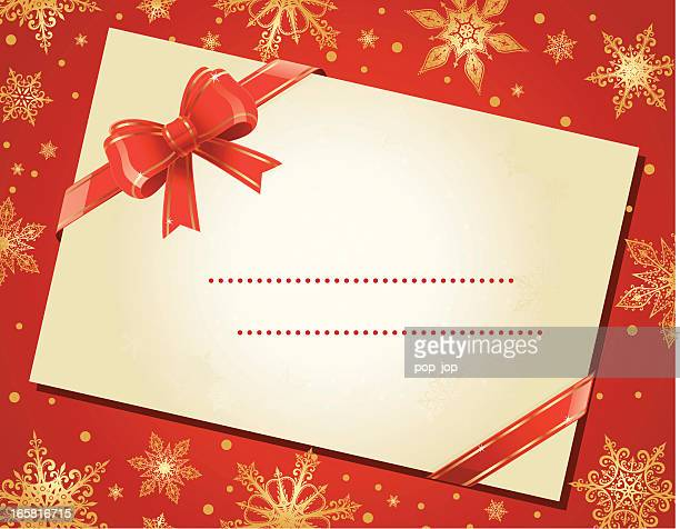 christmas envelope - gift tag note stock illustrations, clip art, cartoons, & icons