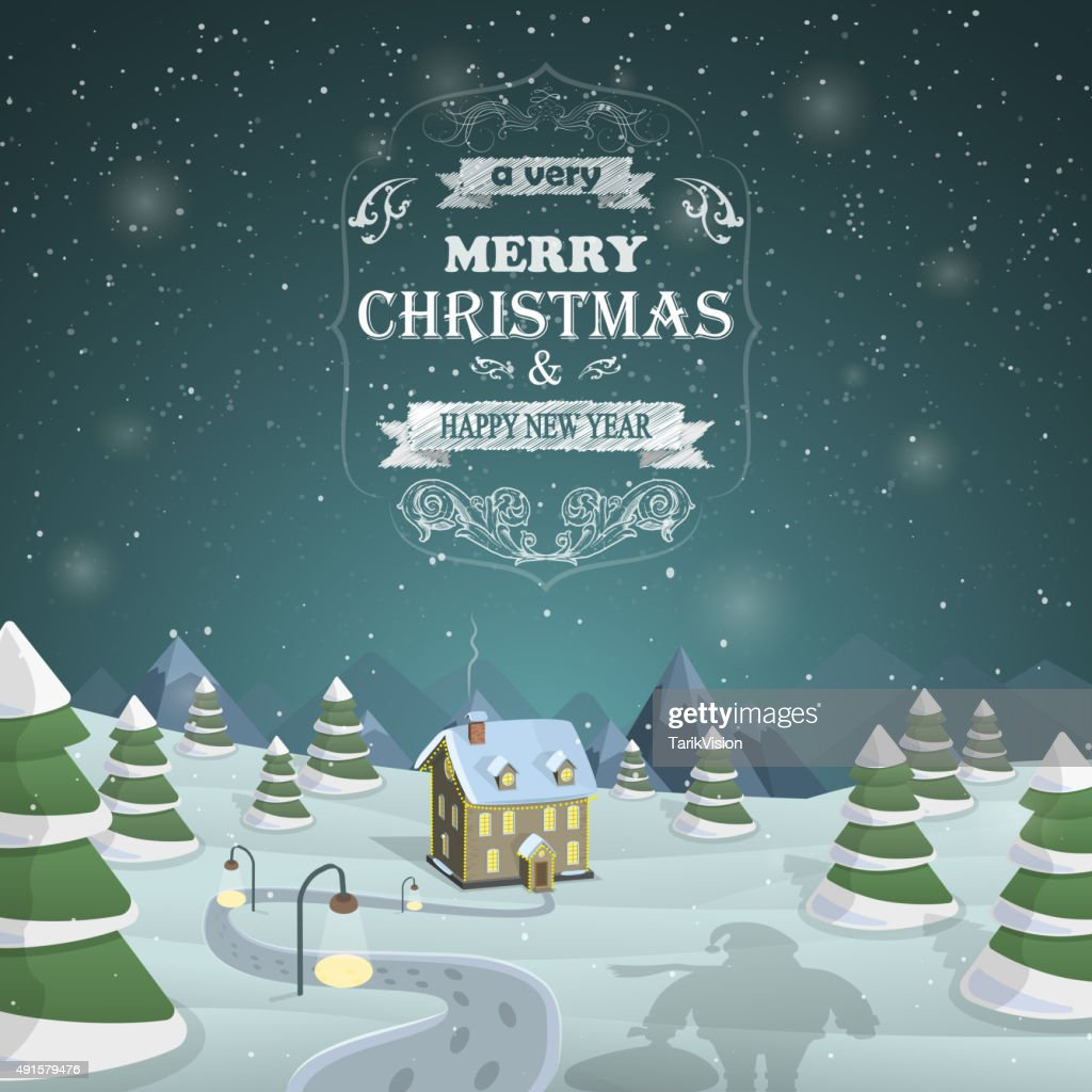 Christmas Eve background vector illustration.