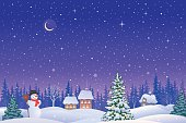 Christmas eve landscape