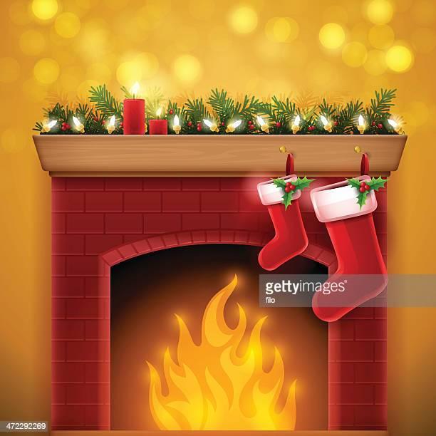 クリスマスの暖炉
