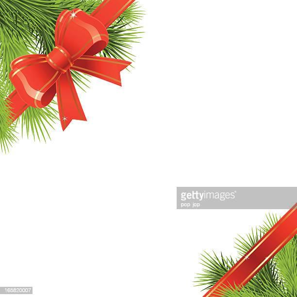 Weihnachten Grenze fir-tree