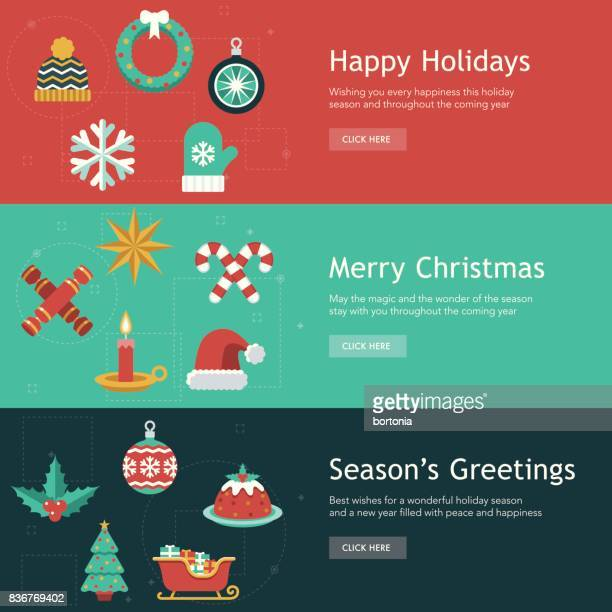 Christmas Flat Design Banner Designs