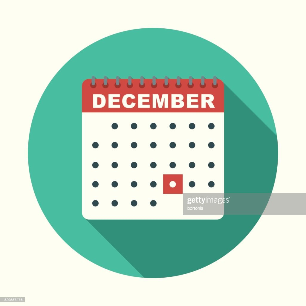 December Calendar Art : Christmas flat design icon december calendar vector art getty images