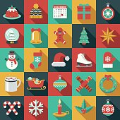 Christmas Flat Design Icon Set