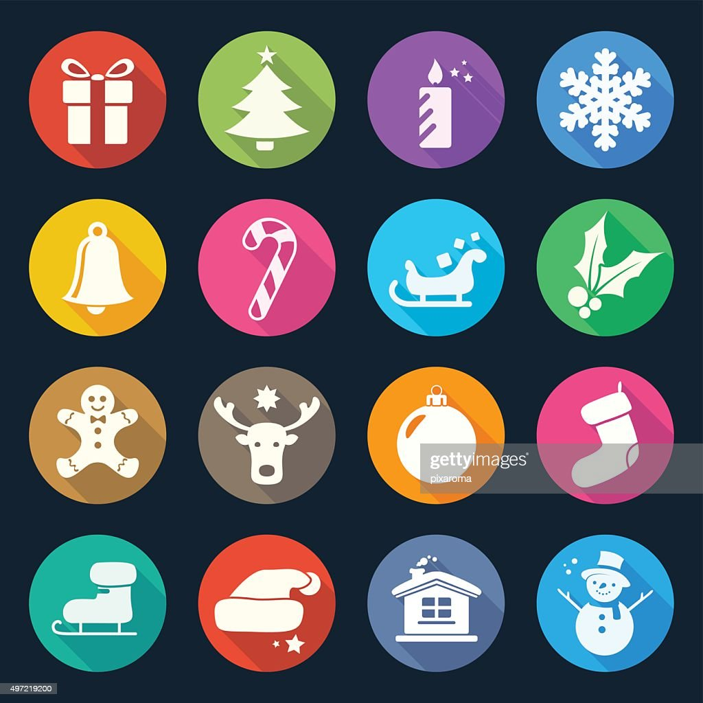 Christmas Flat Icons Set 2