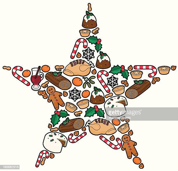 christmas food - mulled wine stock illustrations, clip art, cartoons, & icons