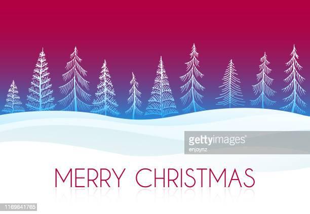 クリスマスの森の背景 - クリスマスマーケット点のイラスト素材/クリップアート素材/マンガ素材/アイコン素材